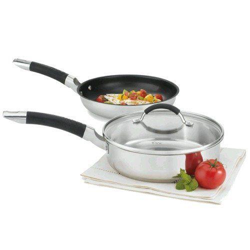 448-373 - Cuisinart Weight Watchers Three-Piece Nonstick Stainless Steel Sauce Pan & Skillet Set