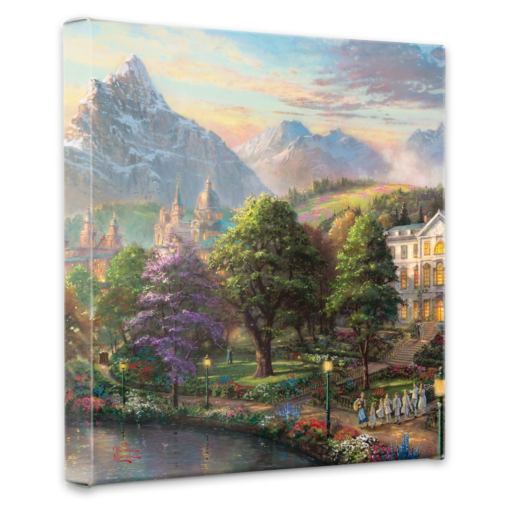 "448-380 - Thomas Kinkade ""Sound of Music"" 14"" x 14"" Gallery Wrap"