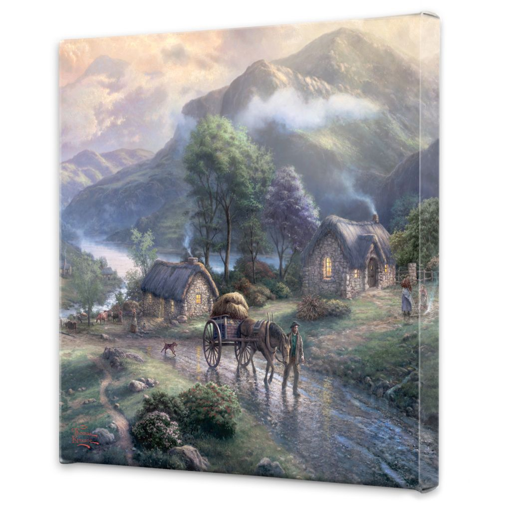 "448-381 - Thomas Kinkade ""Emerald"" Choice of 20"" x 20"" Gallery Wrap"