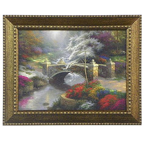 448-383 - Thomas Kinkade ''Bridge of Hope'' Framed Textured Print
