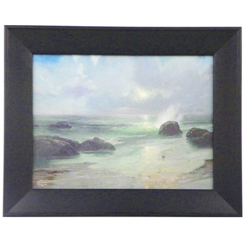 "448-384 - Thomas Kinkade ""Pacific Nocturne"" Textured Framed Print"