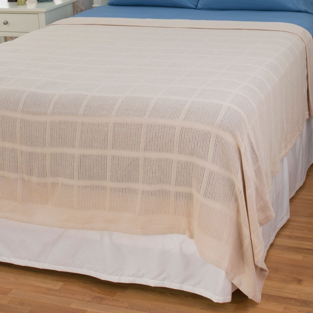448-395 - Cozelle® 100% Cotton Solid Woven Blanket