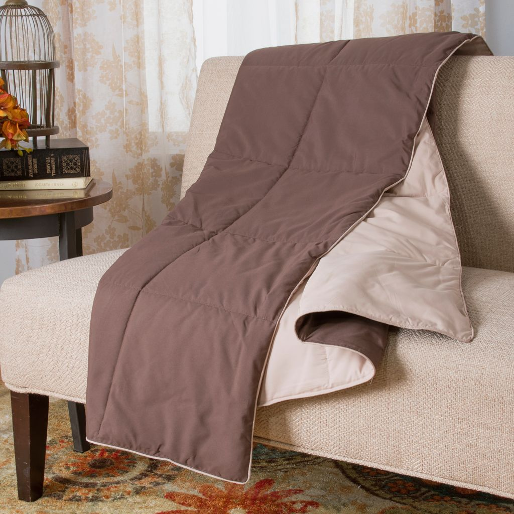 "448-396 - Cozelle® 58"" x 50"" Solid Reversible Throw"