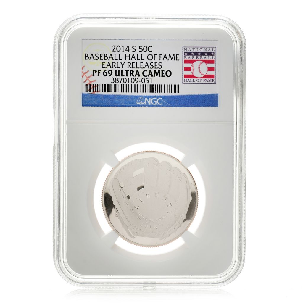 448-418 - 2014 Baseball Hall of Fame Choice of PF69 or PF70 Ultra Cameo NGC (S) Coin