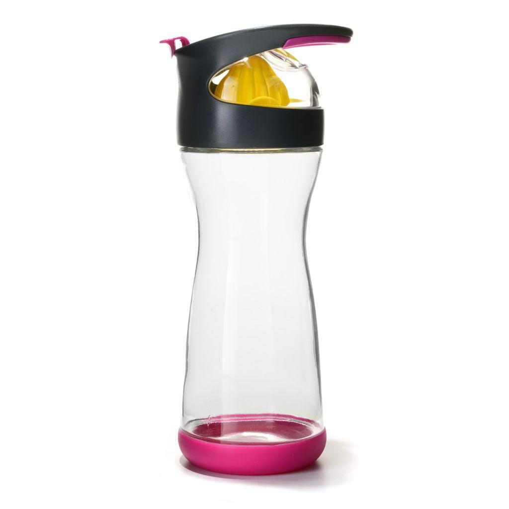 448-428 - Full Circle® Wherever Water Lemon On-the-Go 20 oz BPA-Free Glass Water Bottle
