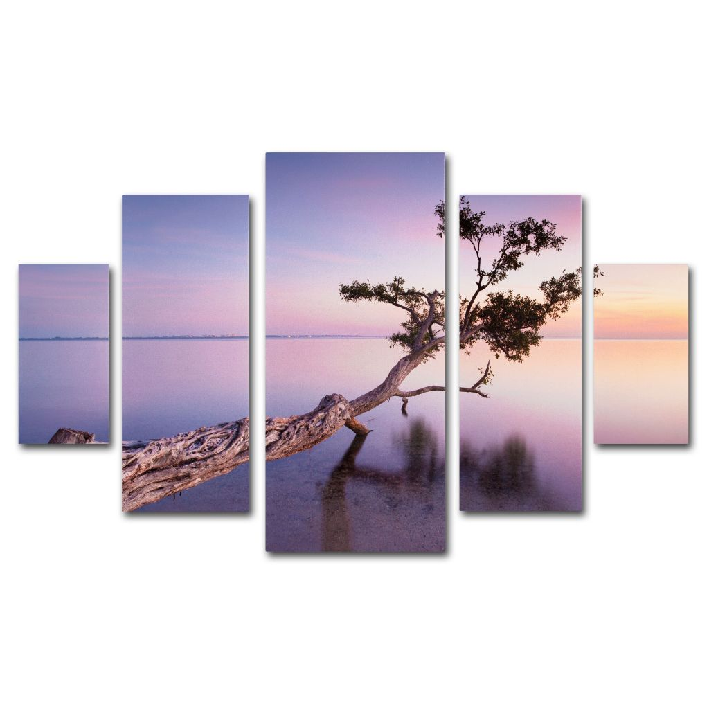 "448-619 - Moises Levy ""Water Tree XV""  Multi Panel Canvas Gallery Wrap Set"