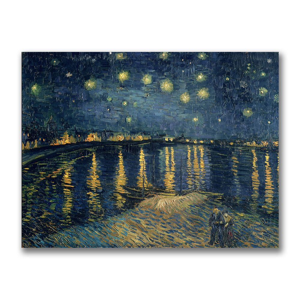 "448-623 - Vincent van Gogh ""The Starry Night II"" 24"" x 32"" Ready to Hang Canvas Art"