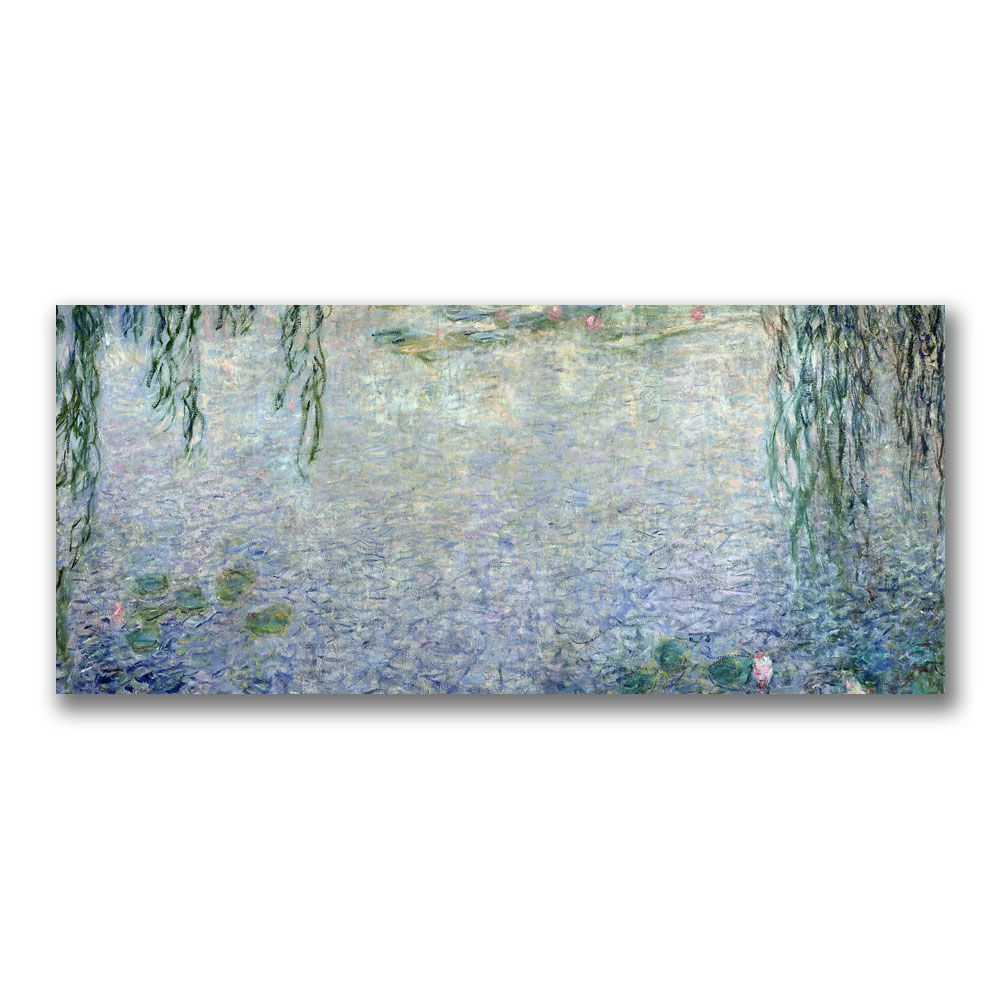 "448-624 - Claude Monet ""Waterlillies Morning II"" 20"" x 47"" Ready to Hang Canvas Art"