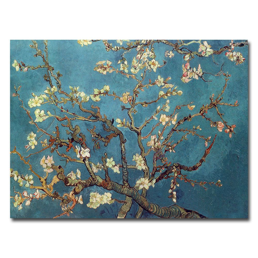 "448-625 - Vincent van Gogh ""Almond Blossoms"" 35"" x 47"" Ready to Hang Canvas Art"