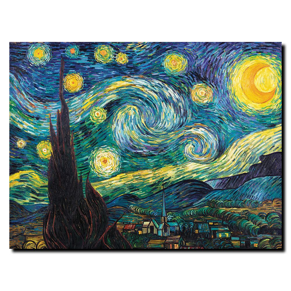 "448-626 - Vincent van Gogh ""Starry Night"" 24"" x 32"" Ready to Hang Canvas Art"