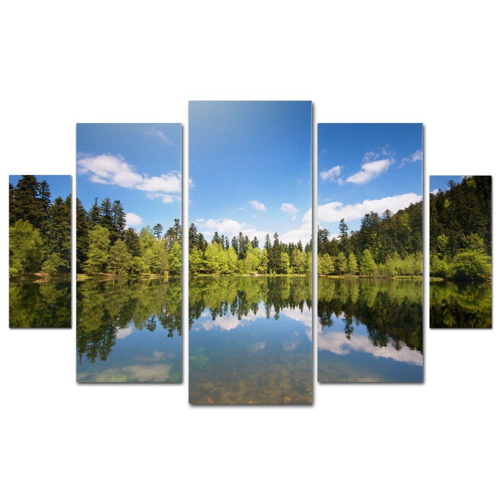 "448-632 - Philippe Sainte-Laudy ""Lake Maix"" Multi Panel Ready to Hang Gallery Wrap Set"