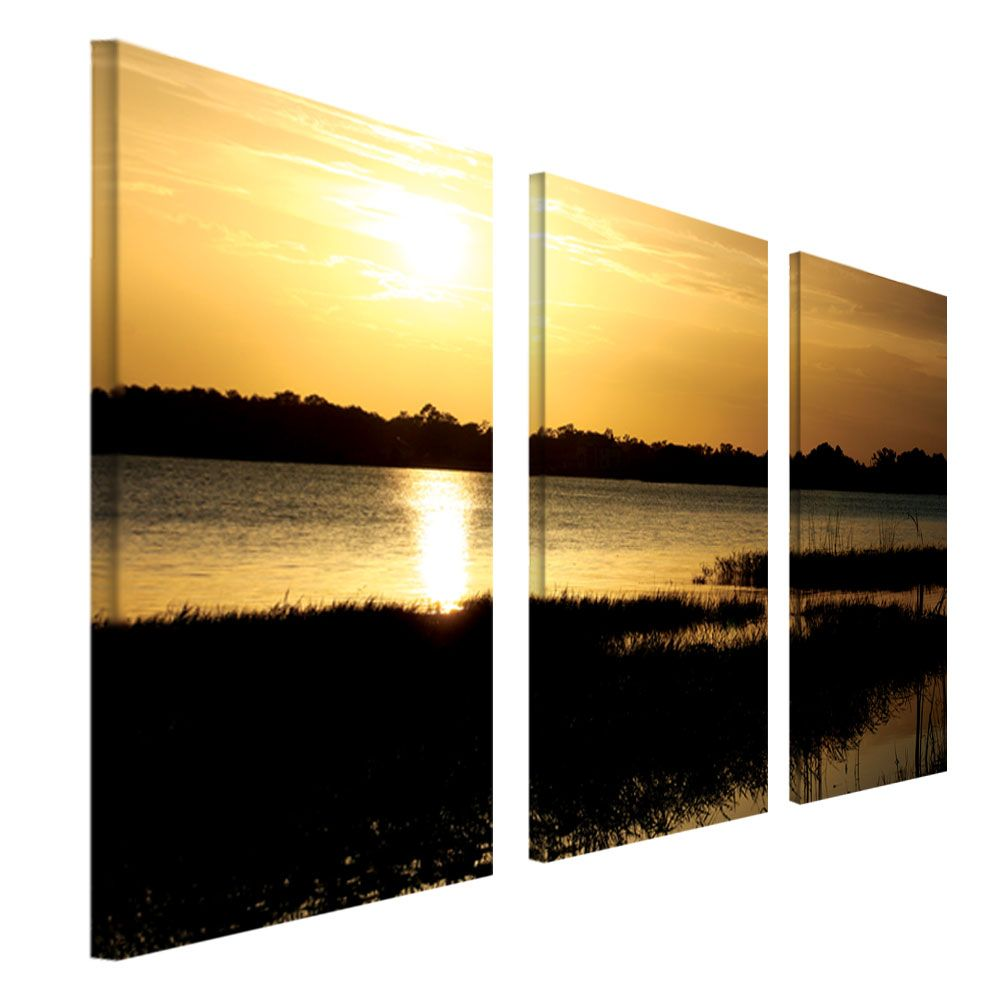 "448-637 - Patty Tuggle ""End of the Day"" Three-Panel Ready to Hang Canvas Art Set"