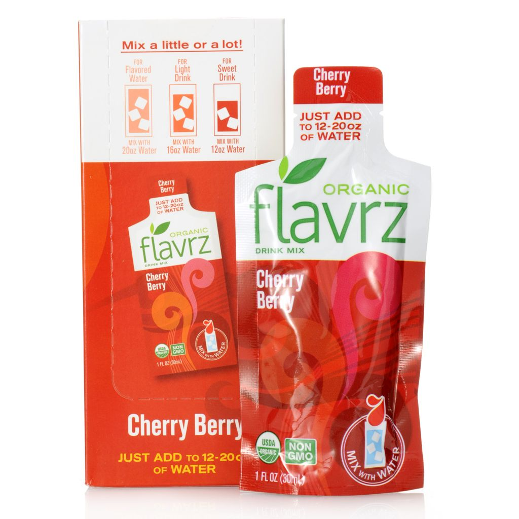 448-671 - Flavrz® Cherry Berry Set of Six Organic Drink Mixes