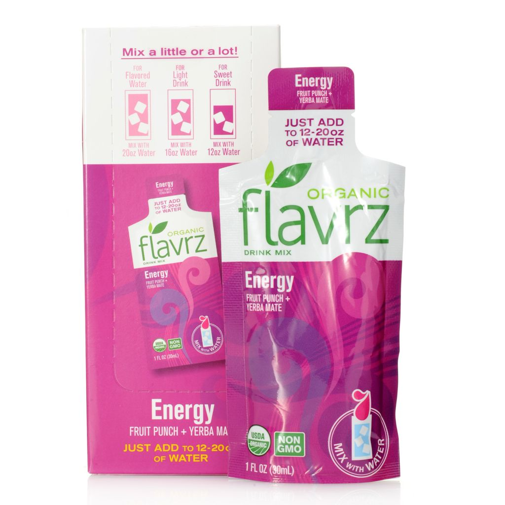 448-672 - Flavrz® Energy Set of Five Organic Drink Mixes