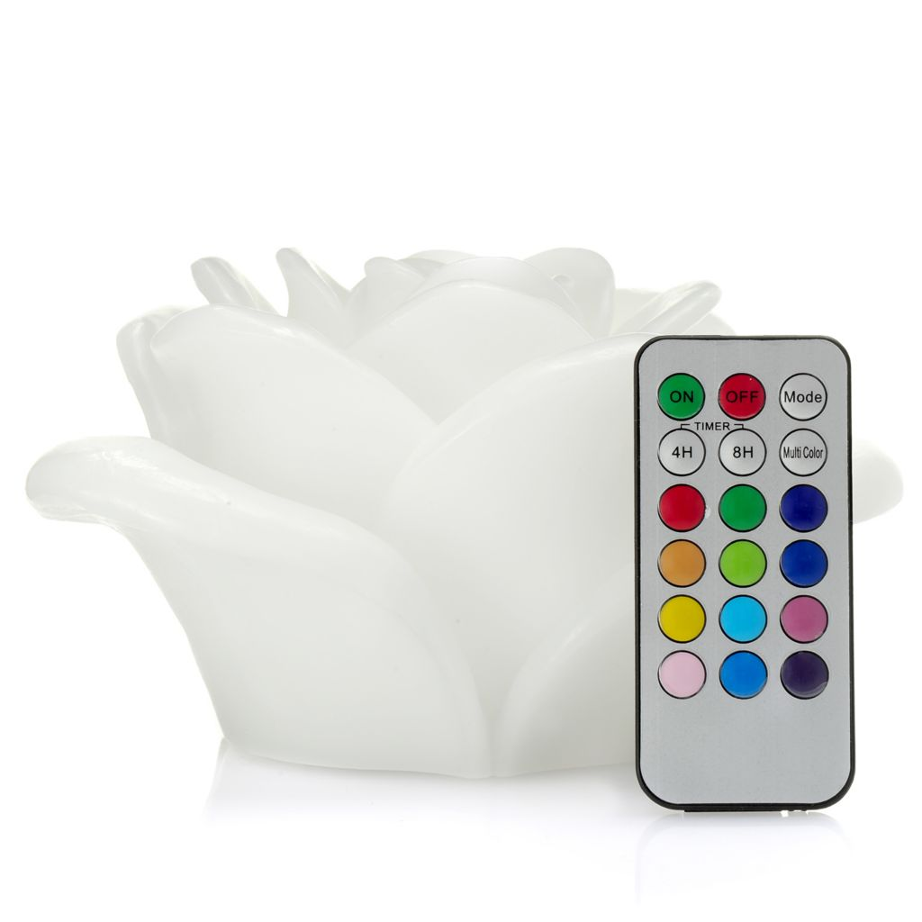 448-678 - Himalayan Glow™ Flameless LED Rose Wax Candle w/ 18-Key Remote Control