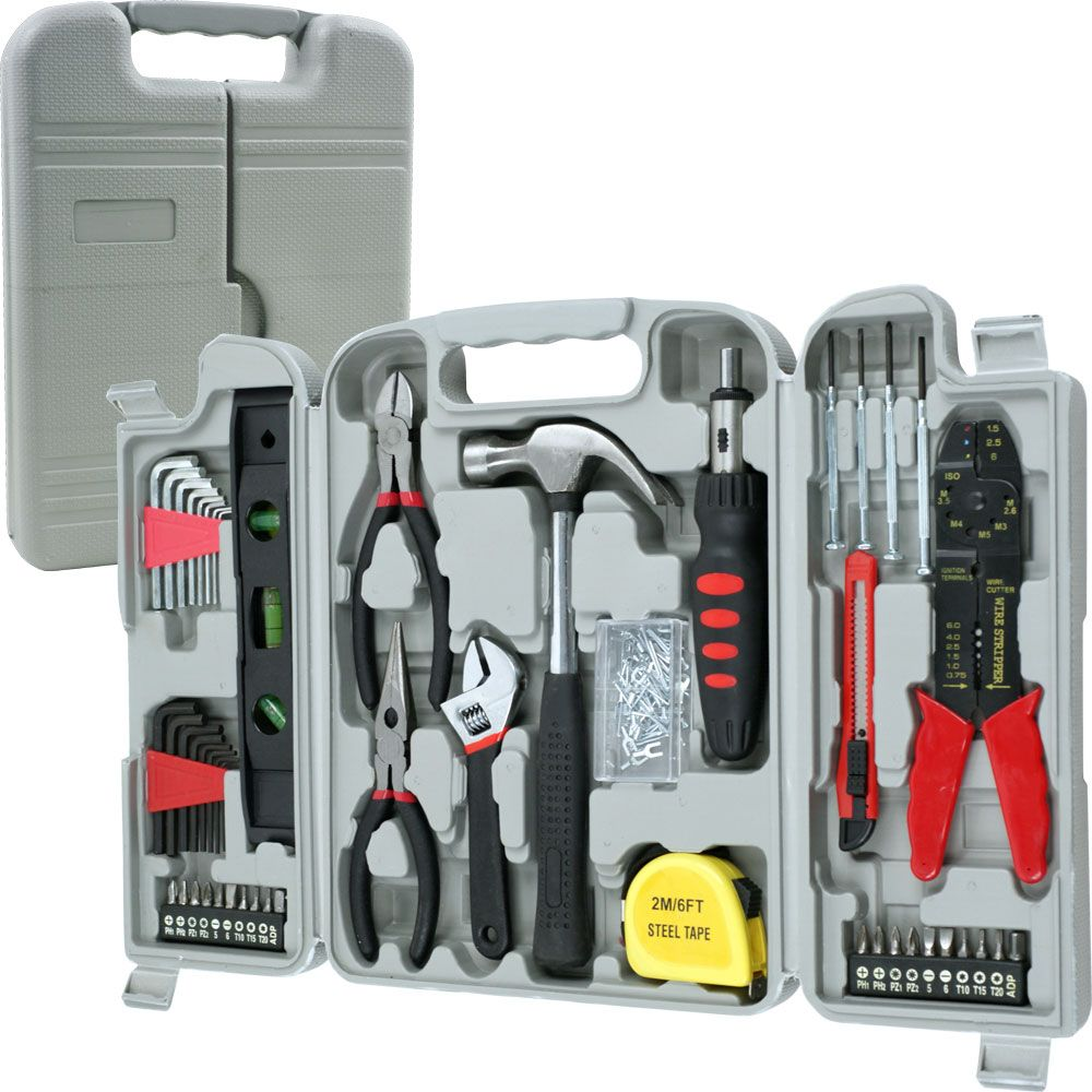 448-807 - Stalwart 130-Piece Hand Tool Set w/ Carrying Case
