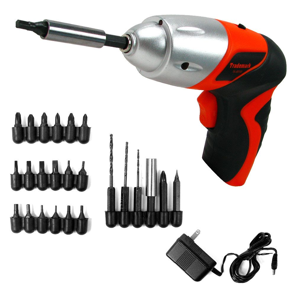 448-813 - Stalwart 25-Piece 4.8V Cordless Screwdriver w/ LED Light