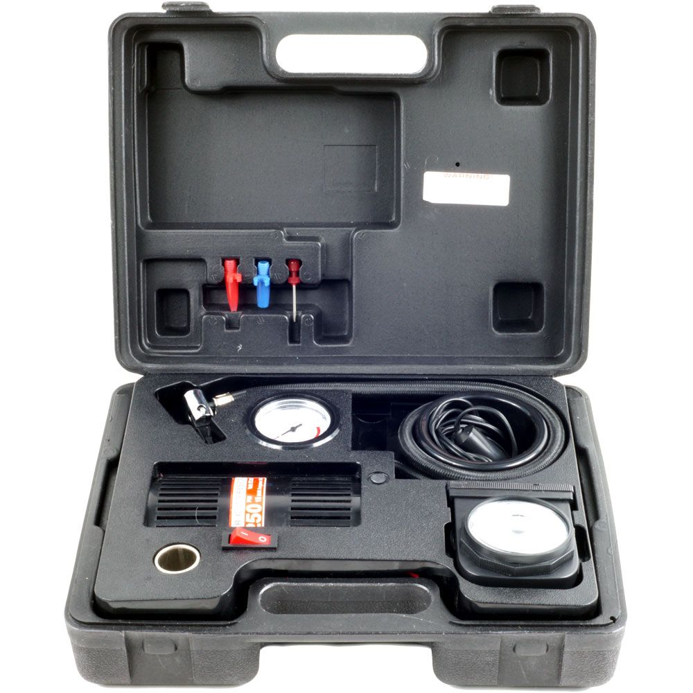 448-897 - Stalwart Portable Air Compressor Kit w/ Light & Carrying Case