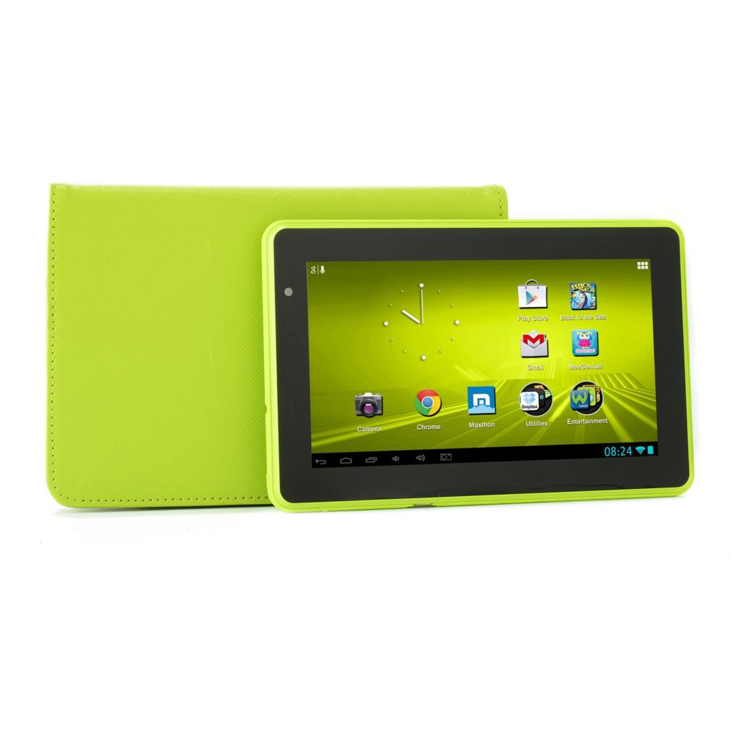 "448-909 - D2® 7"" 4GB Google Certified Android™ 4.1 1GHz Wi-Fi Tablet w/ Folio Case"