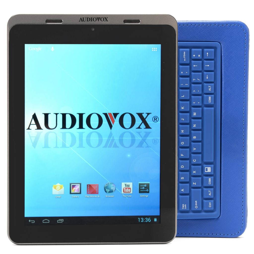 "448-942 - Audiovox 8"" Google Certified Android™ 4.1 8GB Bluetooth® Tablet w/ Keyboard Case"