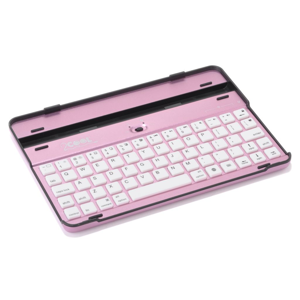 449-081 - 2Cool® Ultra Light Aluminum Case w/ Bluetooth® Keyboard for iPad® Mini