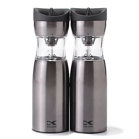 449-086 - Kalorik® Set of Two Gravity-Activated Salt & Pepper Grinders