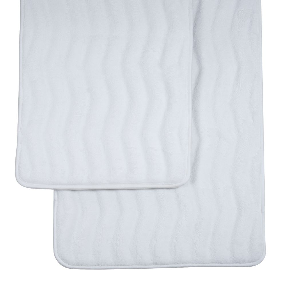 449-141 - Lavish Home Two-Piece Memory Foam Microfiber Bath Rug Mat Set