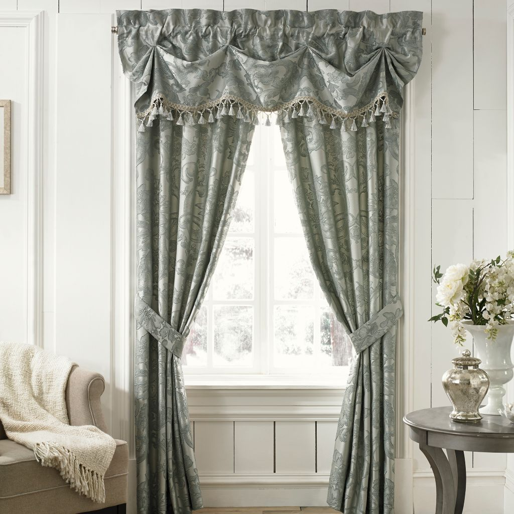 "449-155 - Croscill 69"" x 26"" Floral Scroll Window Valance"