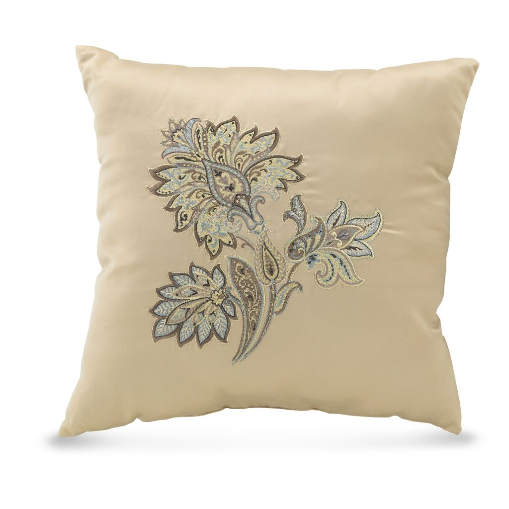"449-160 - Croscill 18"" x 18"" Embellished Decorative Pillow"