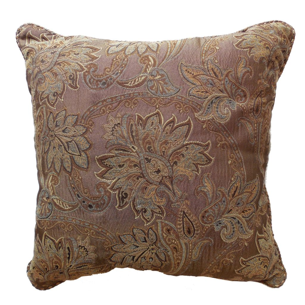 "449-163 - Croscill 18"" x 18"" Floral Paisley Decorative Pillow"