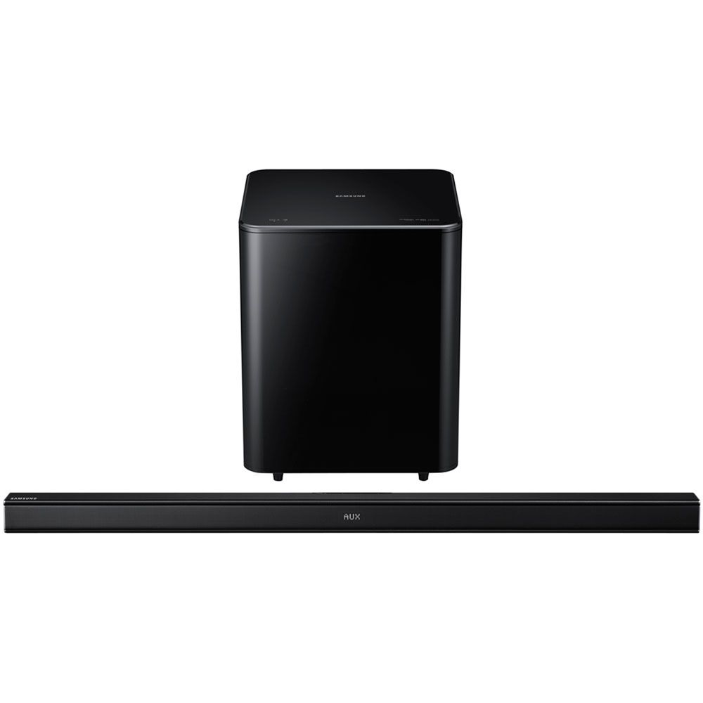 449-180 - Samsung 2-Way Bluetooth Soundbar w/ Wireless Active Subwoofer