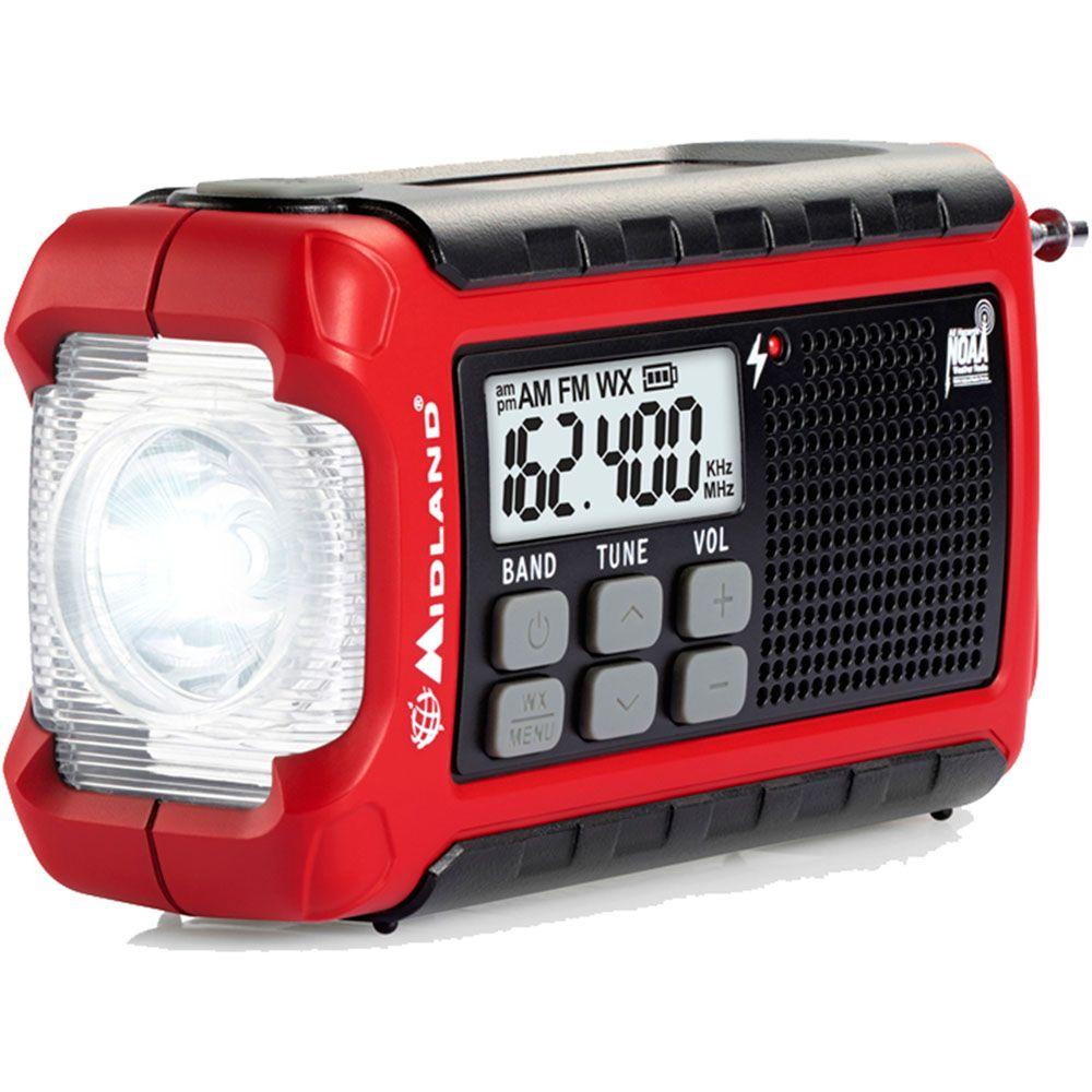 449-232 - Midland™ Weather & Emergency AM/FM Radio w/ Hand Crank, LED Light & SOS Beacon