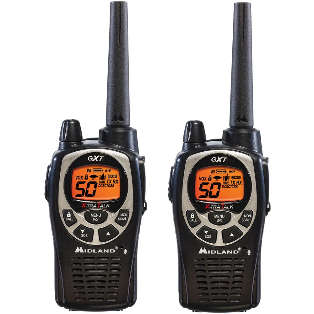 449-234 - Midland™ Set of Two 36 Mile Range Weather-Resistant 50 Channel Two-Way Radios