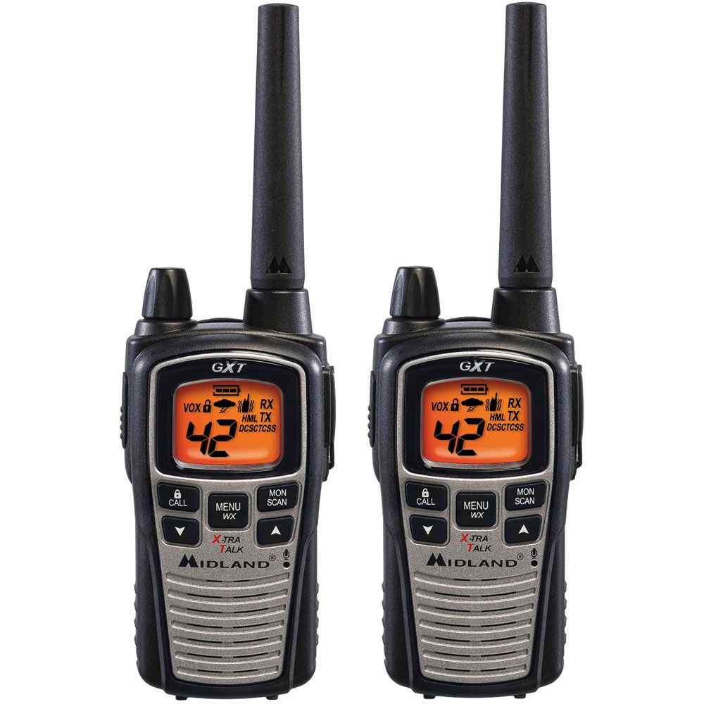 449-236 - Midland™ Set of Two 36 Mile Range 42 Channel Two-Way Radios w/ Weather & Hazard Alerts