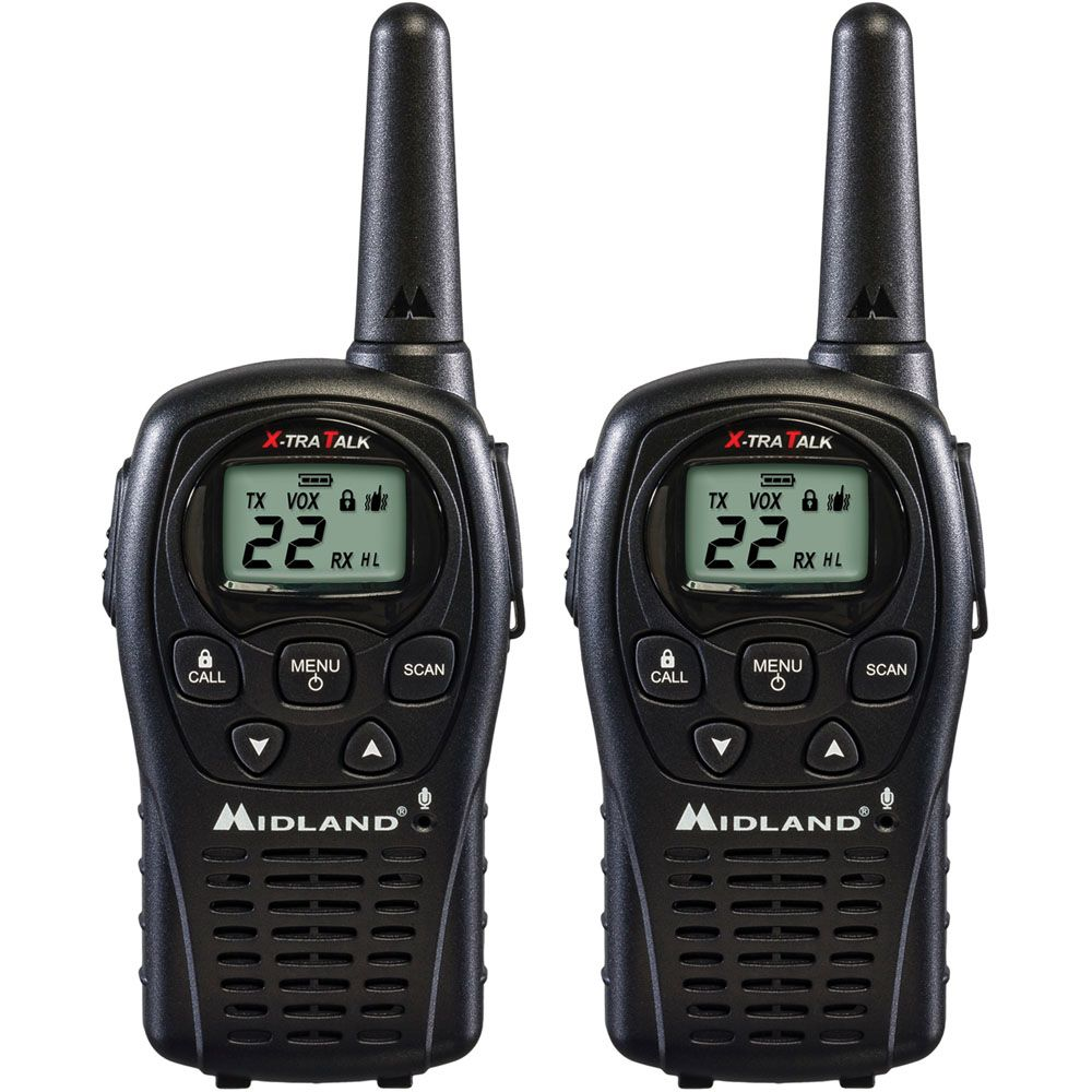 449-239 - Midland™ Set of Two 24 Mile Range 22 Channel Two-Way Radios w/ Rechargeable Battery Packs