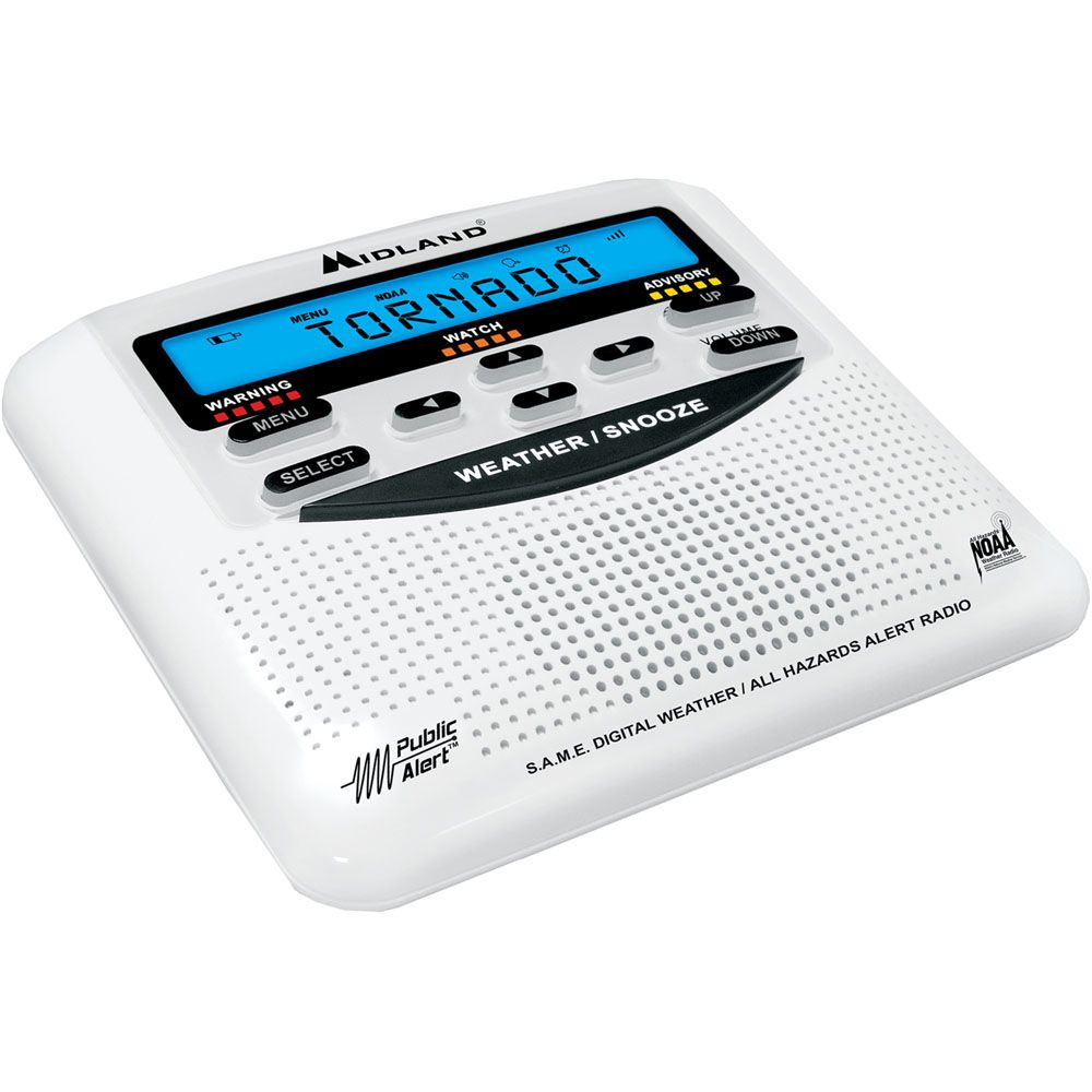 449-242 - Midland™25 Code LCD Display Weather Alert Radio w/ Seven Preset Channels