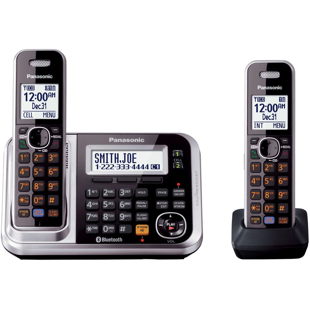 449-245 - Panasonic Link2Cell Two-Line Bluetooth® Answering System w/ Two, Three, Four or Five Handsets