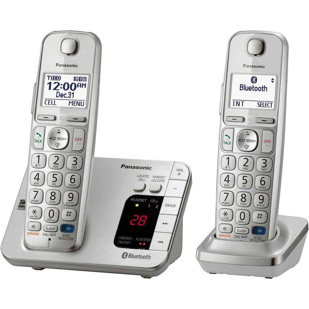 449-247 - Panasonic Link2Cell Two-Line Bluetooth® Answering System w/ Two or Three Wireless Handsets
