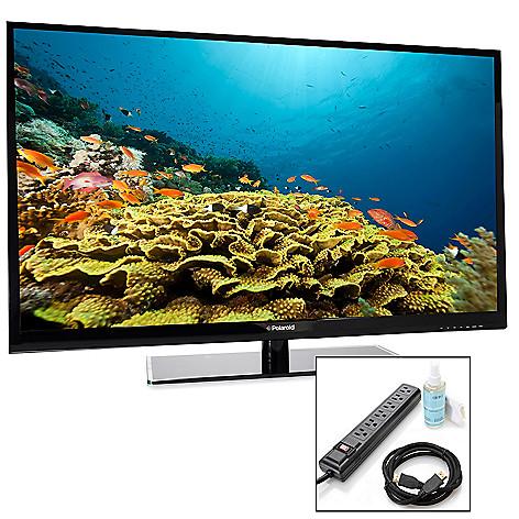 449-264 - Polaroid 1080p 60Hz LED HDTV w/ Three HDMI Ports & TV Starter Kit