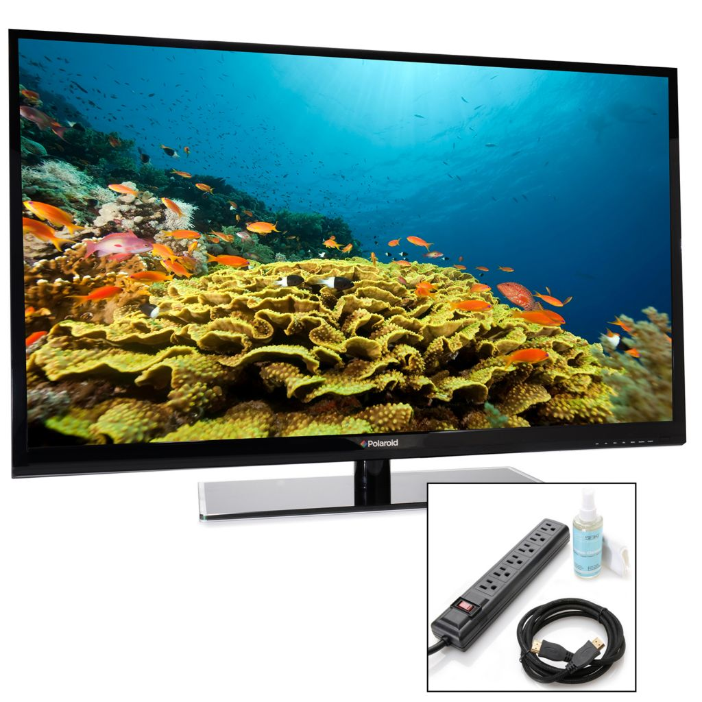 449-264 - Polaroid 1080p 60Hz LED HDTV w/ Three HDMI Ports & TV Starter Kit