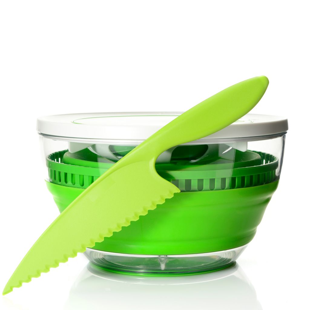 449-270 - Progressive® Prep Works® Collapsible 4 qt Salad Spinner & Lettuce Knife Set
