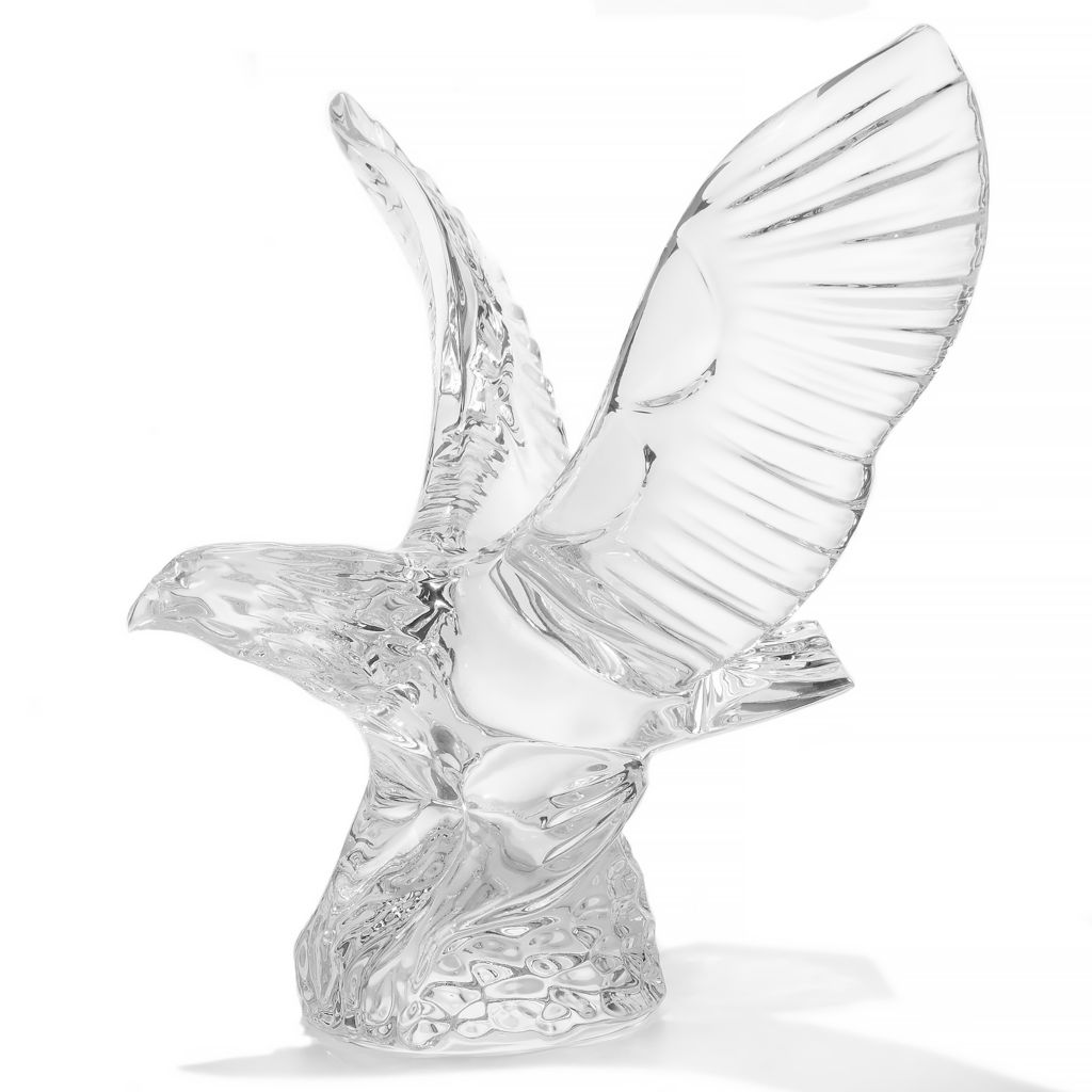 """449-275 - Waterford® Crystal 6.75"""" Sculpted Eagle Paperweight"""
