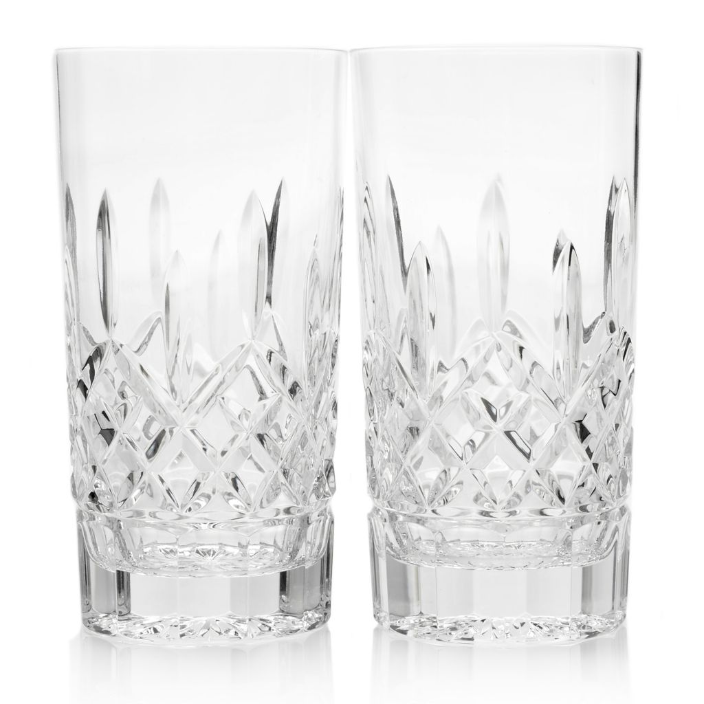 449-283 - Waterford® Crystal Lismore Diamond Set of Two 12 oz Highball Glasses