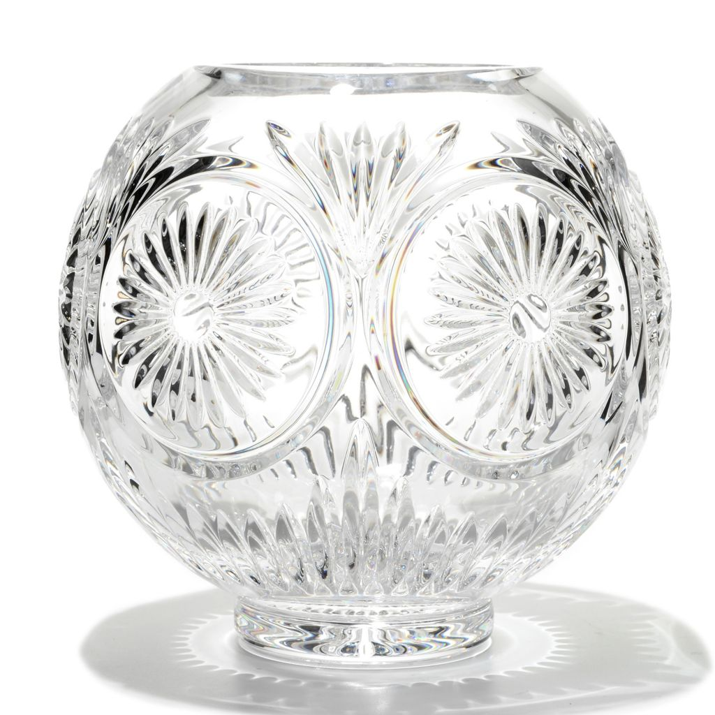 "449-284 - House of Waterford® Crystal 8"" Ambassador Wedge Cut Rose Bowl"