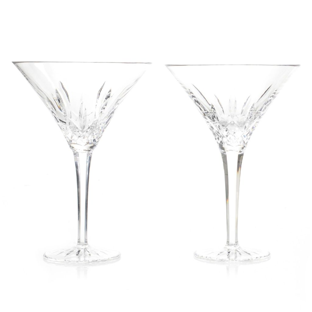 449-285 - Waterford® Crystal Lismore Set of Two 12 oz Diamond Cut Tall Martini Glasses
