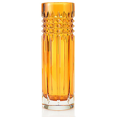 449-286 - Waterford® Crystal Tina 9'' Choice of Color Stud Cut Bud Vase
