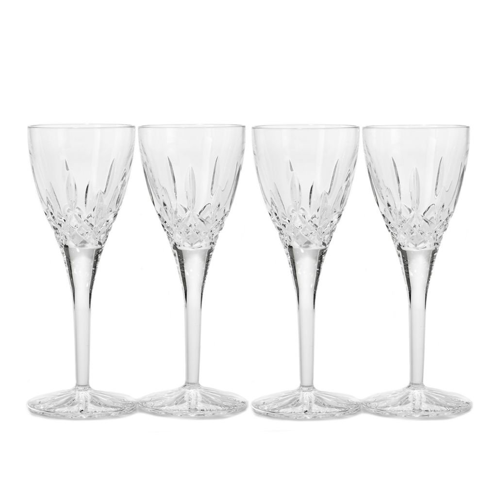 449-296 - Waterford® Crystal Lismore Set of Four 2.5 oz Wedge Cut Cordial Glasses