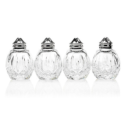 449-297 - Waterford® Crystal Lismore Set of Four 3.25'' Diamond Cut Salt & Pepper Shakers