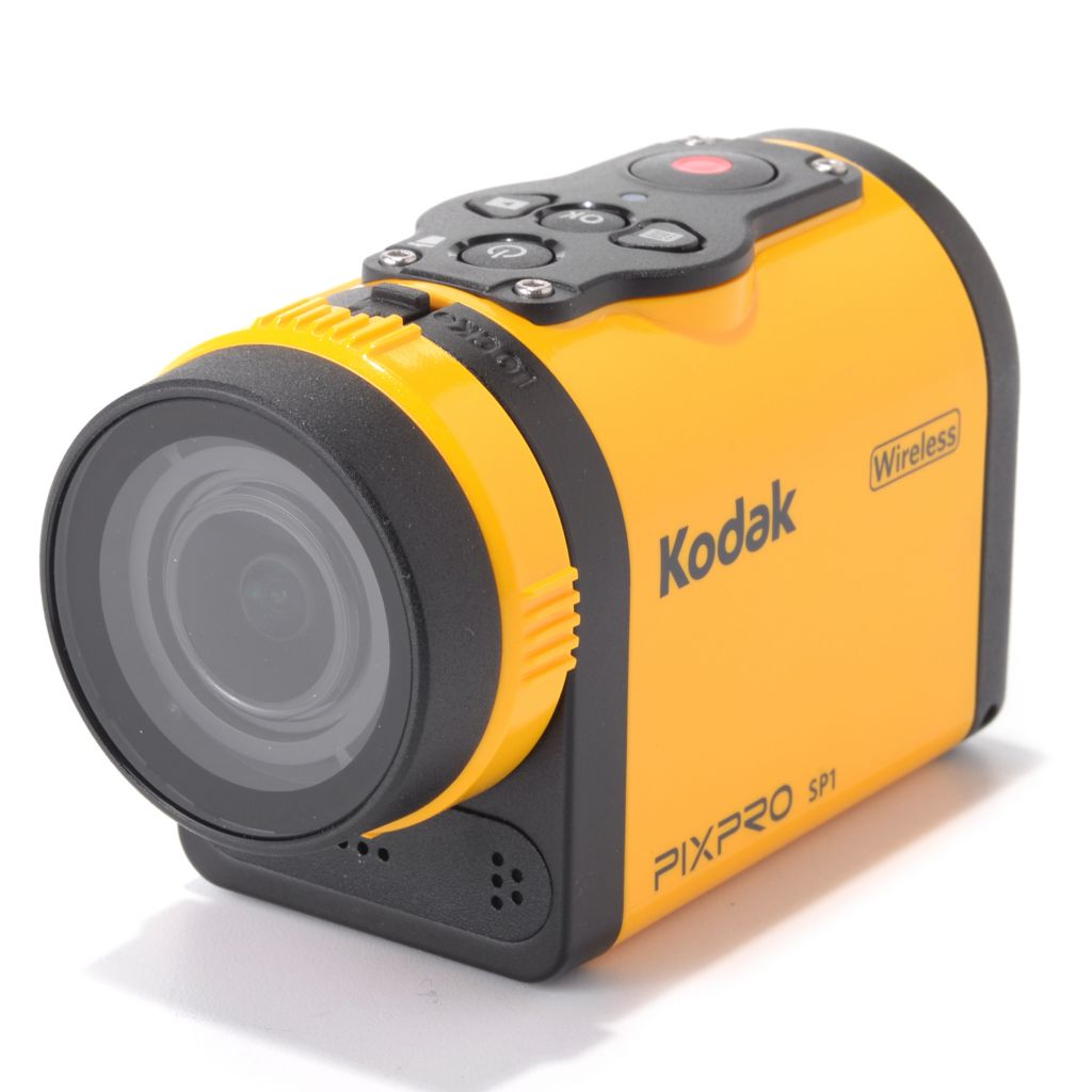 "449-305 - Kodak PIXPRO SP1 1.5"" LCD 14MP Wireless Digital Action Cam w/ Accessories"