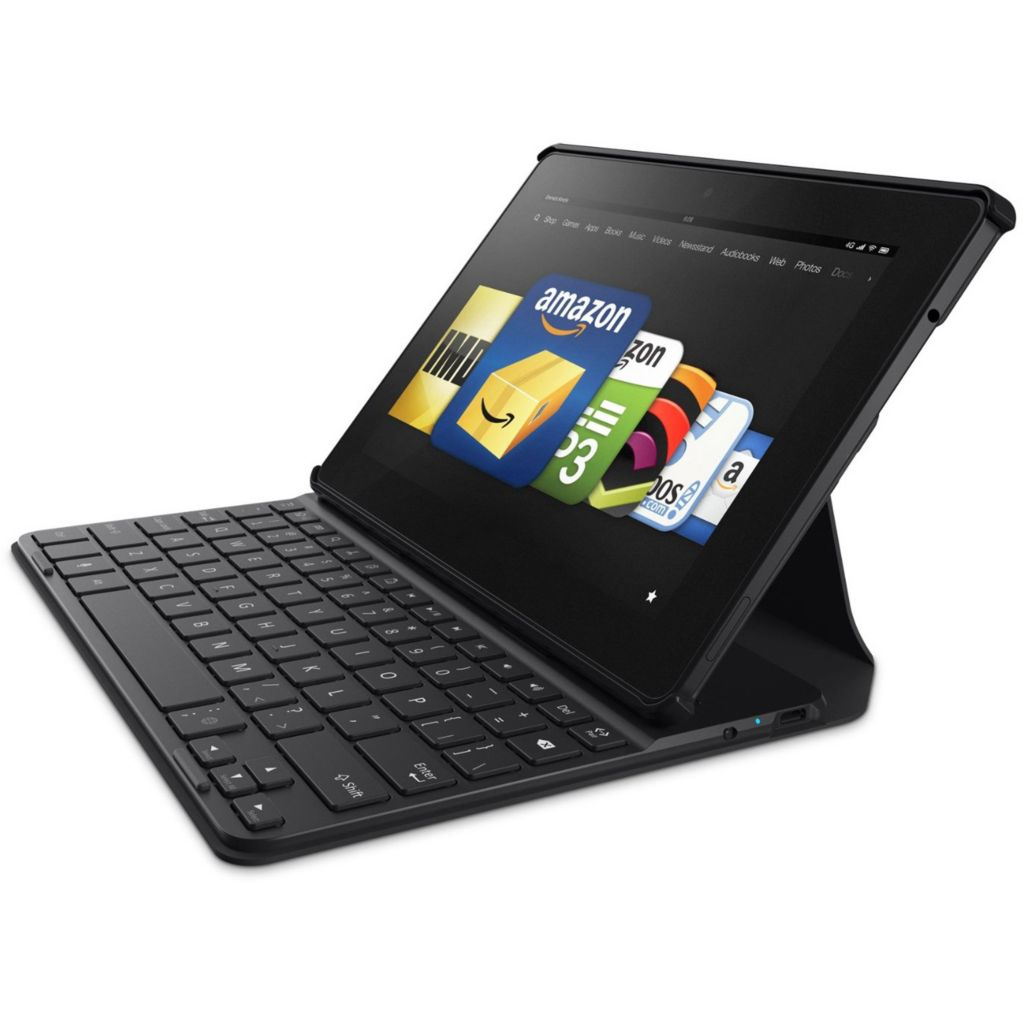 449-306 - Kindle Fire HDX Quad-Core Bluetooth® Tablet w/ Mayday Button & Belkin Keyboard